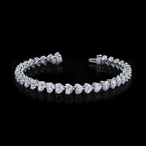 Heart Shape Diamond Bracelet