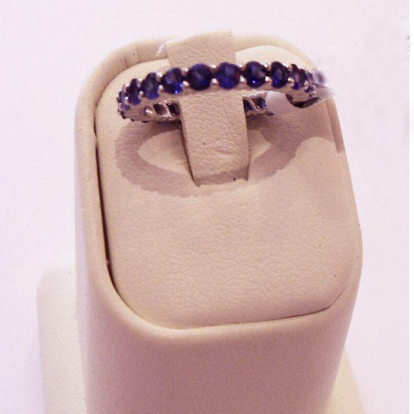 BLUE SAPPHIRE ETERNITY RING 18K