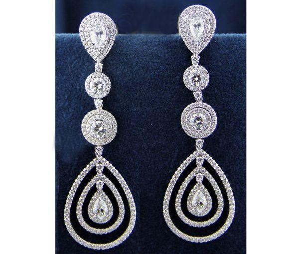 Diamond Chandelier Earrings 6.00 Carats