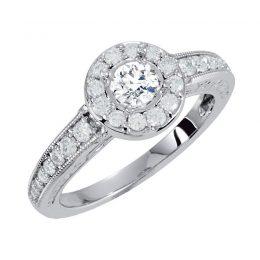 Diamond Engagement Ring 0.91 Carat