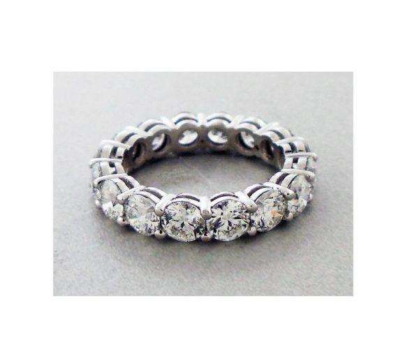 Diamond Eternity Band Ring set in Platinum 4.82 Carats