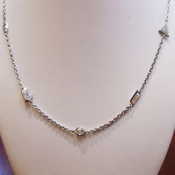 Diamond Necklace 477 Carats Platinum 180 Inches Chain