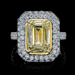 Emerald Cut Yellow Diamond Ring