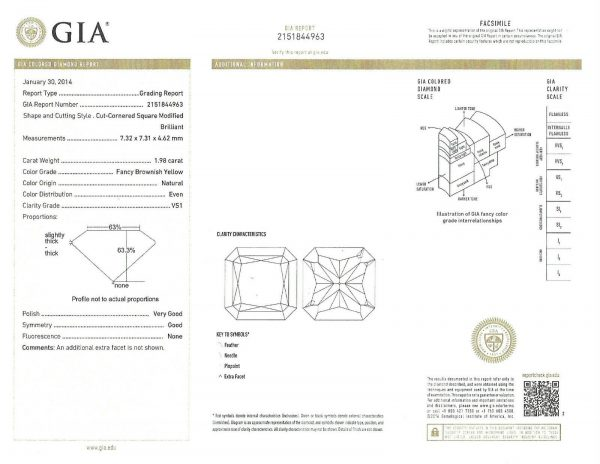 Fancy Yellow Diamond Ring with GIA 2.78 Carat