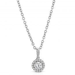 Diamond Micro-Pave Pendant Set in Platinum
