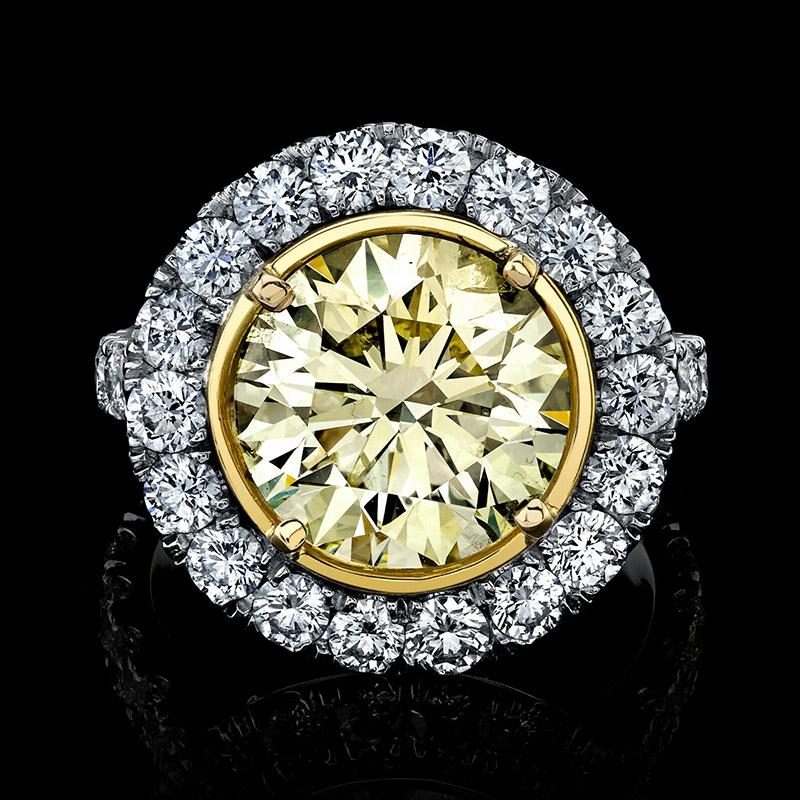 ROUND YELLOW DIAMOND RING