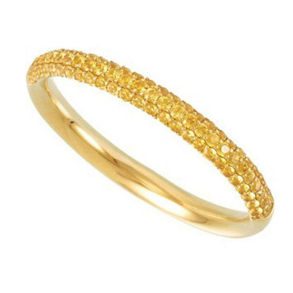 Yellow Sapphire Bridal Eternity Band 14K Yellow Gold