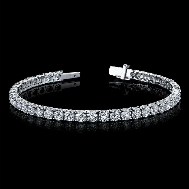 Diamond Tennis Bracelet 8.95 Total Carat Weight 18K White Gold