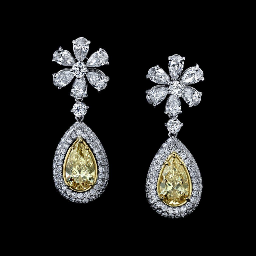 Yellow Diamond Pear Shape
