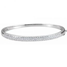 Diamond Bangle 7.0 inches Bracelet