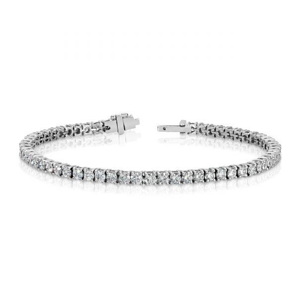 Diamond Tennis Bracelet 5.01 Total Carat Weight 18K White Gold