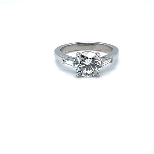 DIAMOND 1.72 CARATS ROUND ENGAGEMENT RING