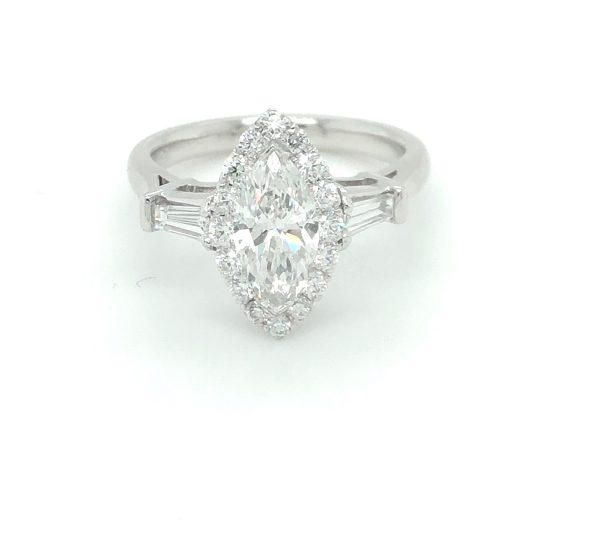 DIAMOND MARQUISE ENGAGEMENT RING